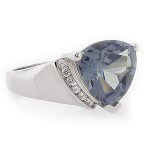 Alexandrite Ring Big Trillion Cut Stone