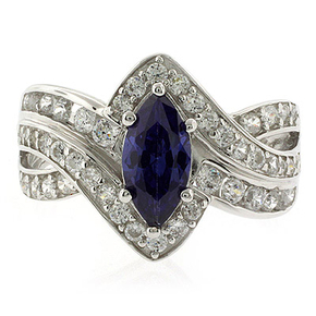 Marquise Cut Tanzanite Ring