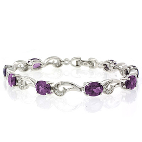 Purple to Pink Color Change Silver Bracelet