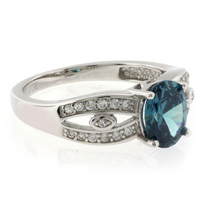 Alexandrite Oval Cut Stone Ring