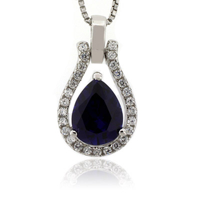 Blue Sapphire Charm Pendant