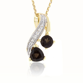 Smoked Topaz Sterling Silver Pendant