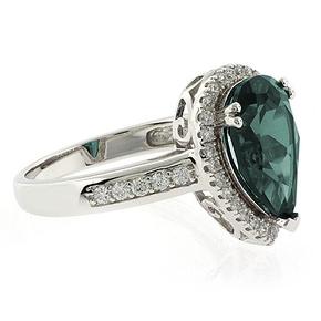 Pear Cut High Quality Alexandrite Silver Ring