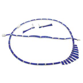 Bracelet Earrings Necklace Silver Opal Set