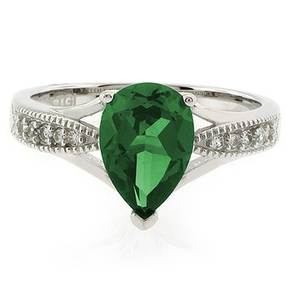 Pear Cut Emerald Ring