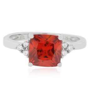 Fire Opal Sterling Silver 925 Ring