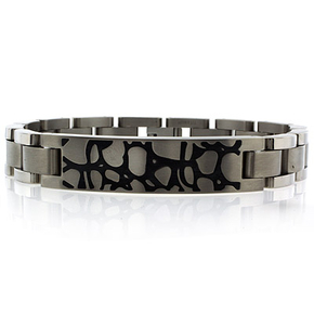 Barraca Stainless Steel Stone Effect Bracelet