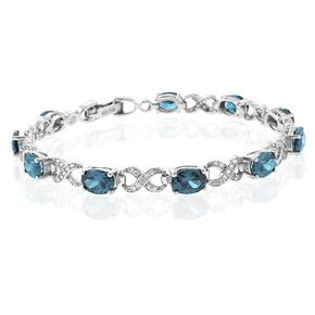 Alexandrite Bracelet Blue to Green Silver