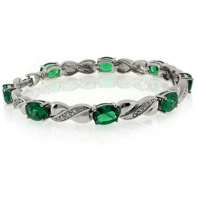 Emerald Bracelet Oval Cut Stone