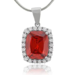 Elegant Fire Opal Sterling Silver Pendant
