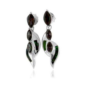 Opal with Mystic Topaz Silver Earrings