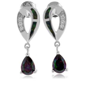 Opal with Mystic Topaz Sterling Silver Earrings