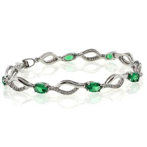 Oval Cut Emerald Bracelet