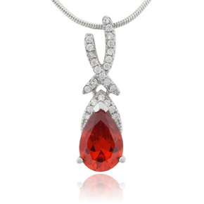 Mexican Fire Opal Sterling Silver 925 Pendant