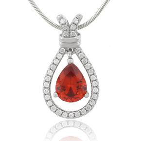 Cherry Opal Silver Pendant