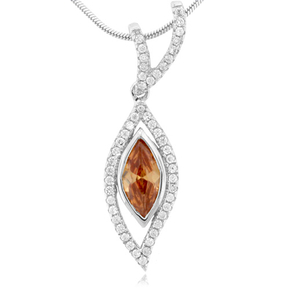 Sapphire Gemstone Silver Pendant