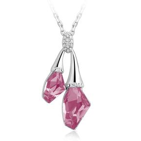 Swarovski Elements Rose 18K White Gold Plated Necklace