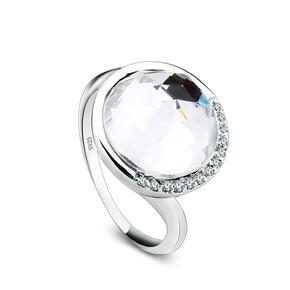 Beautiful White Swarovski Crystal Ring
