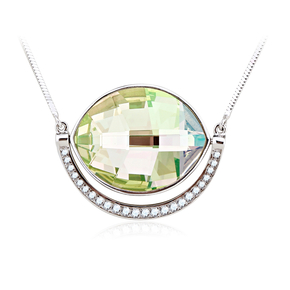Gorgeous Green Sterling Silver Swarovski Necklace