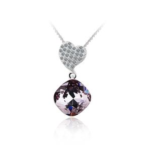 Light Amethyst Color Swarovski Elements Heart Pendant