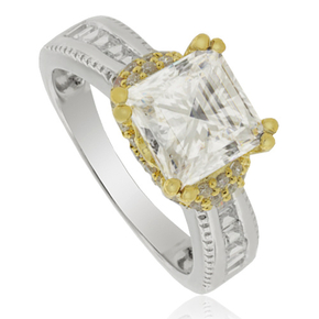 Simulated Diamond Engagement Ring