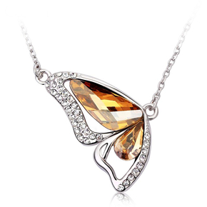 Champagne Butterfly Necklace