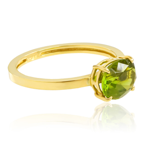 Natural Peridot 14K Gold Ring