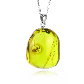 Genuine Natural Amber Insect Ant Pendant