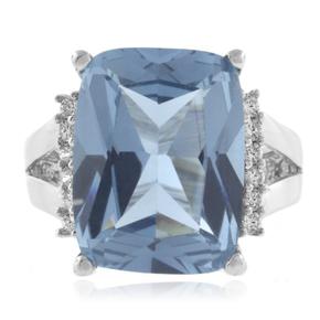 Huge Aquamarine Sterling Silver Ring