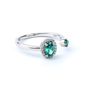 Oval Cut Alexandrite Double Stone Ring