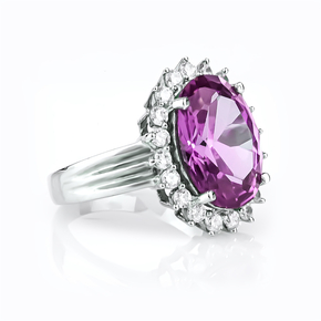 Alexandrite Purple to Bluish Color Change Sterling Silver Ring