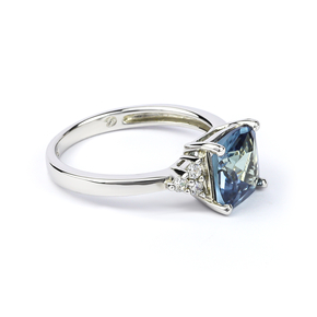 Alexandrite Sterling Silver Ring Blue To Green Color Change