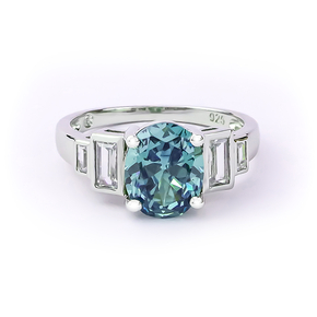 Alexandrite Silver Ring With Solid Silver