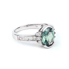 Blue to Green Color Change Sterling Silver Ring