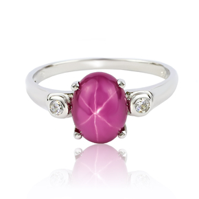 Star Ruby Sterling Silver Ring