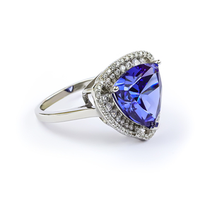Huge Tanzanite Silver Ring