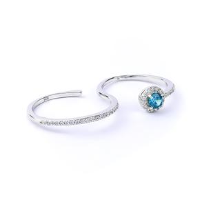 Alexandrite Double Silver Swirl Ring