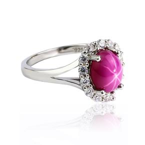 Star Ruby Oval Cut Ring
