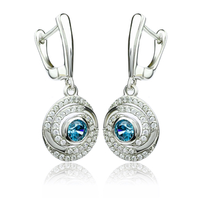 Dangling Alexandrite Sterling Silver Earrings Change Color Stone