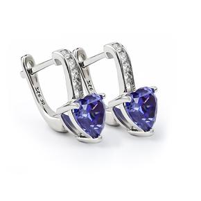 Tanzanite Earrings With Leverbacks