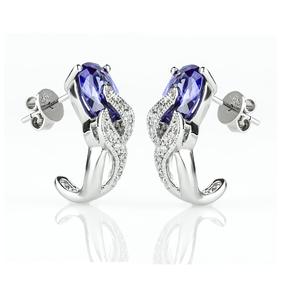 Tanzanite Silver Earrings