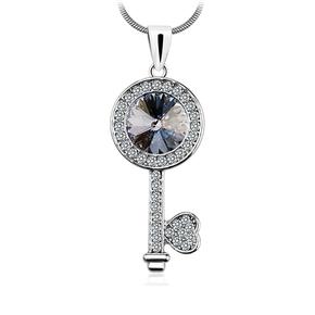 Black Key Swarovski Necklace