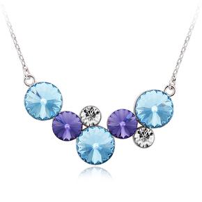 Blue Circles Swarovski Necklace