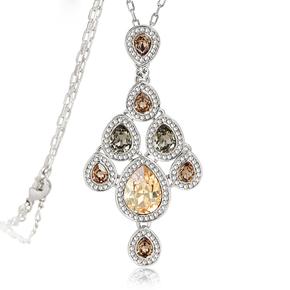 Beautiful Champagne Swarovski Necklace