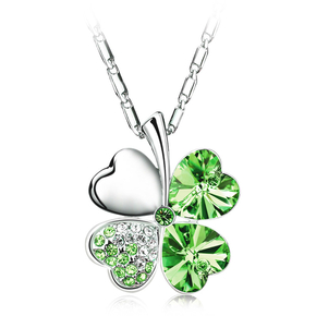 Peridot Clover Necklace