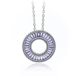 Sterling Silver  Tanzanite With Silver Chain