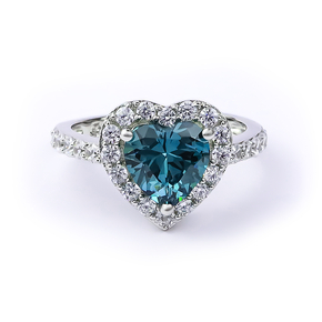 Heart Alexandrite Blue To Green Color Change Sterling Silver Ring
