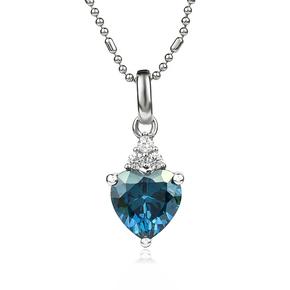 Color Change Alexandrite Sterling Silver 925 Heart Pendant