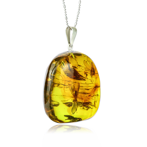 Natural Amber Pendant From Mexico