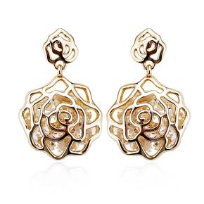 Golden Earrings In Flower Shape